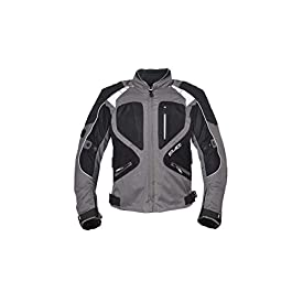 SOLACE Men's Grey Mesh Breathable Meshed Protective Motorcycle Riding Jacket – (Large)