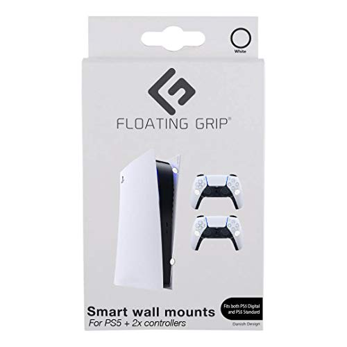 PS5 Wall Mounts By Floating Grip – Bundle – White (PS5/)