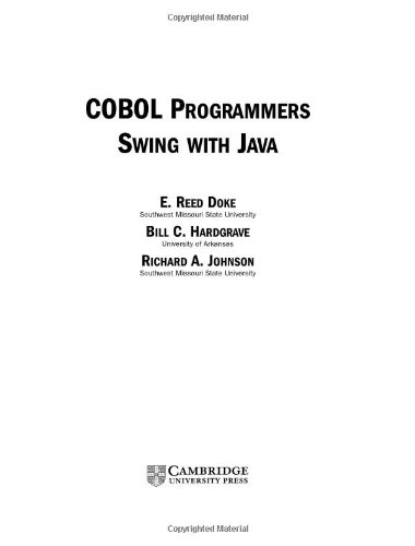 - COBOL Programmers Swing with Java
