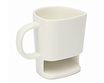Amazon.com: Ceramic Cookies Cup Dunk Mug with Biscuit Holder Face ...