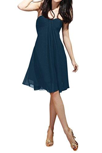 Ange Mousseline Robes De Mariée Bridesmiad Robes Simples Pagenat Cocktail Bleu Marine Courte