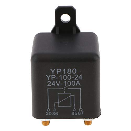 Flameer 4 Pin Waterproof Relay, 12Volt/24Volt 100Amp/200Amp Relay, Automotive Car Starter Relay - 24V 100A