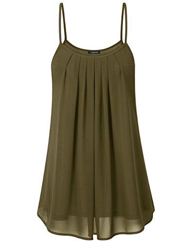 laksmi-womens-summer-cool-casual-sleeveless-pleated-chiffon-layered-cami-tank-top-xx-large-army-gree