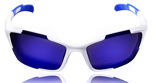 Hulislem Blade Sport Polarized Sunglasses, Revo Blue - - Blade Sunglasses