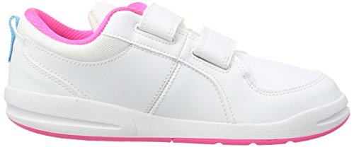 Nike Pico 4 (PSV) - Zapatillas para niña, color blanco / rosa / azul
