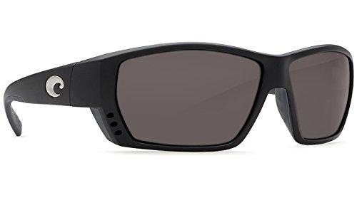 Costa Del Mar Tuna Alley C-Mate 2.00 Sunglasses, Matte Black, Gray 580P Lens