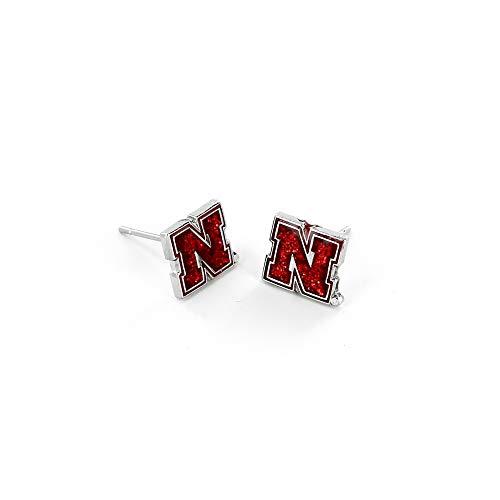 NCAA Nebraska Cornhuskers Glitter Post EarringsGlitter Post Earrings, Team Color, 2.5 ()