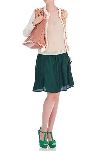 Bellerose - Falda corta de vuelo verde, talla 42: Amazon.es: Ropa ...