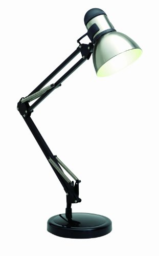 Satco Products SF76/358 Swing Arm Drafting Light, Steel/Black