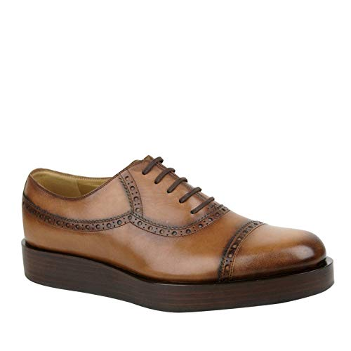 Gucci Lace-up Brown Leather Platform Oxford Shoes 353028 2218 (9 G / 10 US)