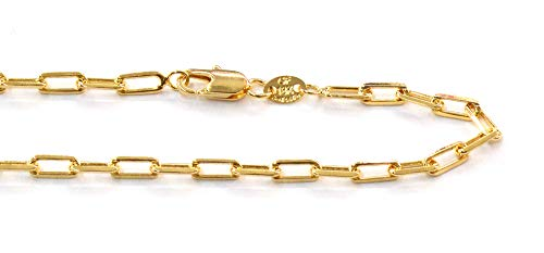 (1-1812-j5) 18kt Brazilian Gold Filled Long Rolo Link Chain, 4mm, 24