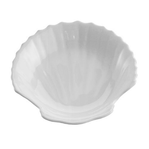 HIC Harold Import Co. Classic Porcelain Shell Dish and Mini Serving Plate, White, 3-Inches NT-813-HIC (Shell Dish Porcelain)