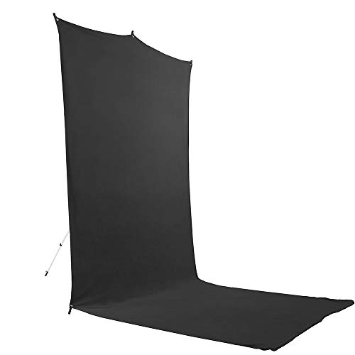 Savage Travel Backdrop Kit - Black Floor Extended Backdrop (5 ft x 12 ft) with -