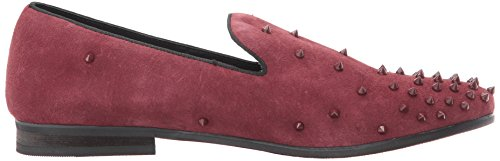 Steve Madden Mens Kaskad Slip-on Loafer Vinröd Mocka
