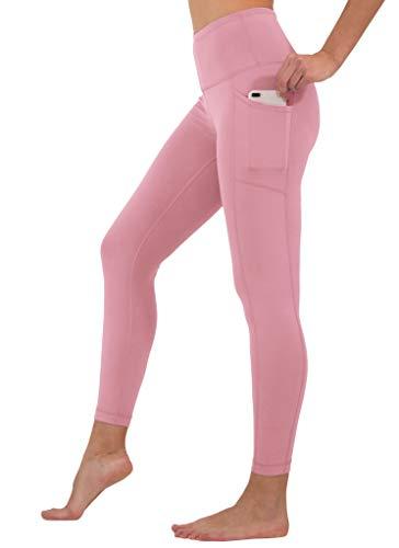 90 Degree By Reflex High Waist Tummy Control Interlink Squat Proof Ankle Length Leggings - Foxglove - Small