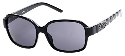 Harley-Davidson Women's Quilted Temple Sunglasses, Black Frames & Smoke ()