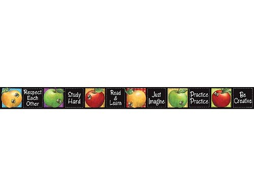 Teacher Created Resources Colorful Apples Straight Border Trim from Susan Winget, Multi Color (4748)