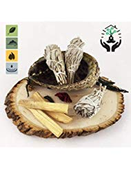 SMUDGING KIT Sticks - Sage Incense Sticks for Spiritual Chakra Cleansing, White Sage, Palo Santo & Abalone Shell for Healing Incense, Protection, Good Luck & Prosperity, Home Cleansing & Blessing Kit by My Lumina