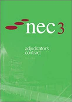 Book Nec3 Adjudicator's Contract by NEC (2005-07-14)