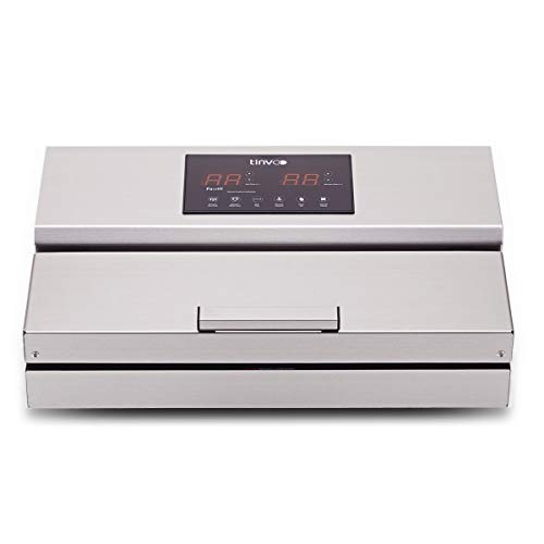 TINVOO VS960 Smart Touch Vacuum Sealer Machine Commercial Grade Automatic Vacuum Air Sealing System Double Piston Pump Design( Chef Series/Stainless Steel)