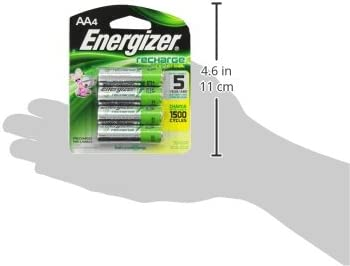 Energizer Rechargeable AA Batteries, NiMH, 2000 mAh, Pre-Charged, 4 depend (Recharge Universal) - Packaging May Vary