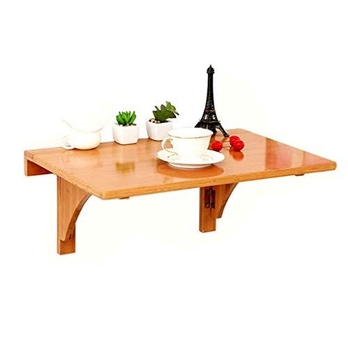 Madera solida de Pared Mesa Plegable Vuelto hacia Arriba de bambu de Pared Mesa de Comedor hogar Moderno Minimalista (Size : 100 * 45cm)