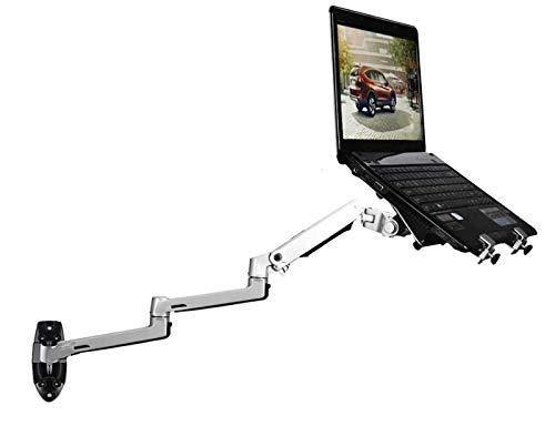 - XSJ8013WT Wall Mount Laptop Holder Ultra Long Arm Aluminum Mechanical Spring Full Motion Laptop Mount Arm Monitor Holder Lapdesk