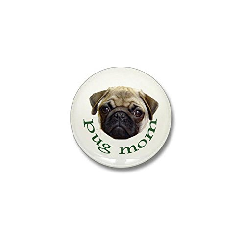 CafePress - Pug Mom Mini Button - 1