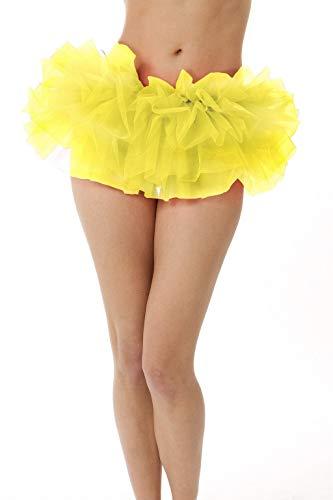 BellaSous Adult Poofy Tutu for Holiday Costume, Princess Tutu, Ballet Tutu, Dance Outfit, or Fun Run Yellow -