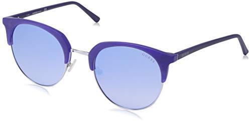 GUESS Gu3026 Wayfarer Sunglasses, Matte Blue & Gradient Blue, 52 ()