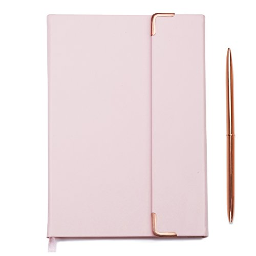 Minte writing journal | dot journal to write in for women | faux leather diary | perfect for bullet journaling | A5 hardcover notebook, 250 pages, women gift set with pen, light pink