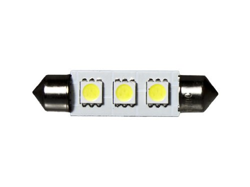 CBconcept 42mm3SMD-CW Cool White 42mm 3 High Power SMD5050 12-volt DC LED Interior Dome Festoon Bulb
