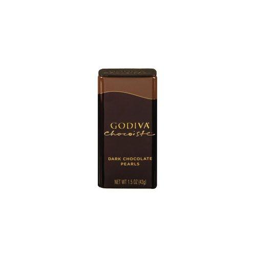 Godiva Chocolatier Dark Choc Chocoiste Pearls (Economy Case Pack) 1.5 Oz Tin (Pack of 18)