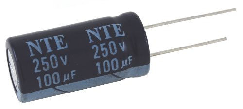 NTE Electronics VHT47M50 Series VHT Aluminum Electrolytic Capacitor, Radial Lead, 105 Degree Max Temp, 47 µF Capacitance, 20% Tolerance, 50V