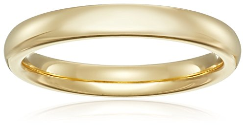 Standard Comfort-Fit 18K Yellow Gold Band, 3mm, Size 6 by Amazon Collection
