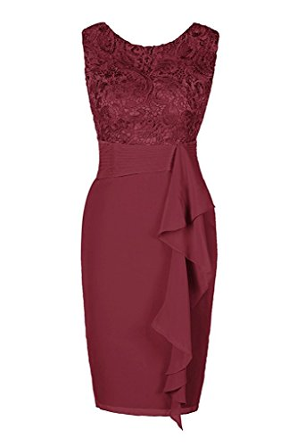 VaniaDress Women Sheath Evening Dress Mother Of The Bridesmaid Dress V080LF Burgundy US14