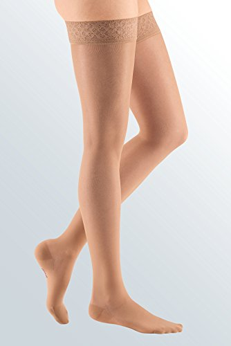 mediven Sheer & Soft, 20-30 mmHg, Thigh w/ Lace Top-Band, Closed Toe