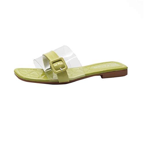 Plates Chaussures Chaussons Green Boucles Vacances YUCH Chaussures Mer De Femmes De XqawA5I