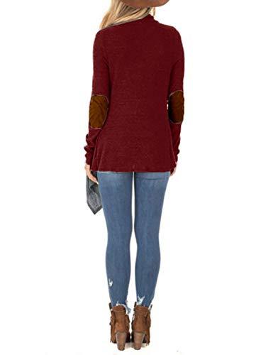 Femme Manteau L D'hiver Red Lanlan Lâches Femmes Mode La Gray De Couture Pour Wine Boutons À M Dark fSERRWTq