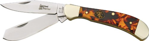 Frost Cutlery & Knives SW111ITS Small Saddlehorn Pocket Knife with Imitation Tortoise Shell Handles