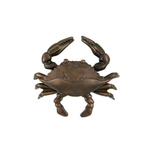 Blue Crab Door Knocker - Oiled Bronze (Standard Size)