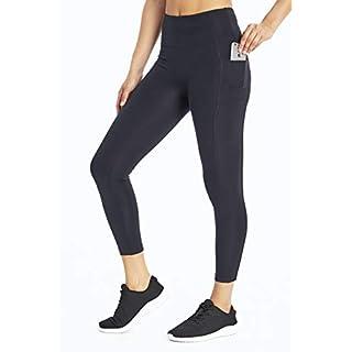 Bally Total Fitness High Rise Pocket Ankle Legging, Black, Medium (FLL1000A)