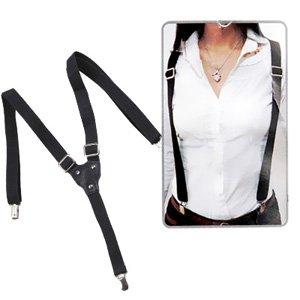 paquet à la mode et attrayant concepteur neuf et d'occasion nouveau design BRETELLE DE PANTALON NOIR 25MM FEMME/HOMME Accessoire ...