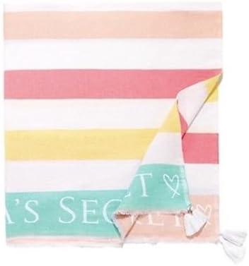 "Victoria/'s Secret Striped Beach Towel 50/"" x 60/"" NWT"