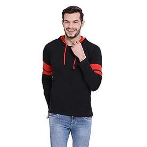 VIMAL JONNEY Cotton Black Full Sleeve Hoodie Tshirt for Men-T_12_BLK01-P