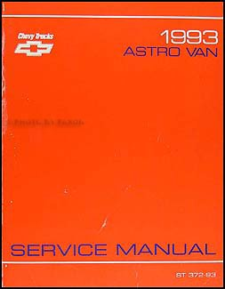 1993 Chevrolet Astro Van Repair Shop Manual Original