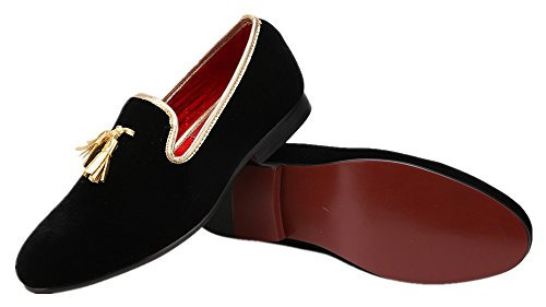 Amazon.com   Merlutti Velvet Loafer with Tassel Mens Casual Dress Shoe Easy-on Slip-ons   Loafers & Slip-Ons