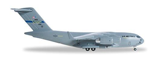 HE527835 Herpa Wings USAF C-17a 1:500 183rd As Spirit of Miss Minutemen Model Airplane