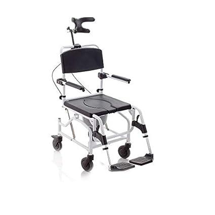 mopedia – Silla ergonómico para inodoro y ducha sobre ruedas – Basculante