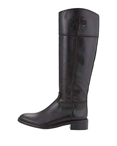 - Tory Burch Lowell 2 Logo Riding Boot Women's Leather Shoes 50869 (7.5)